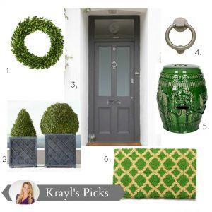 Designing A Green + Gray Entranceway