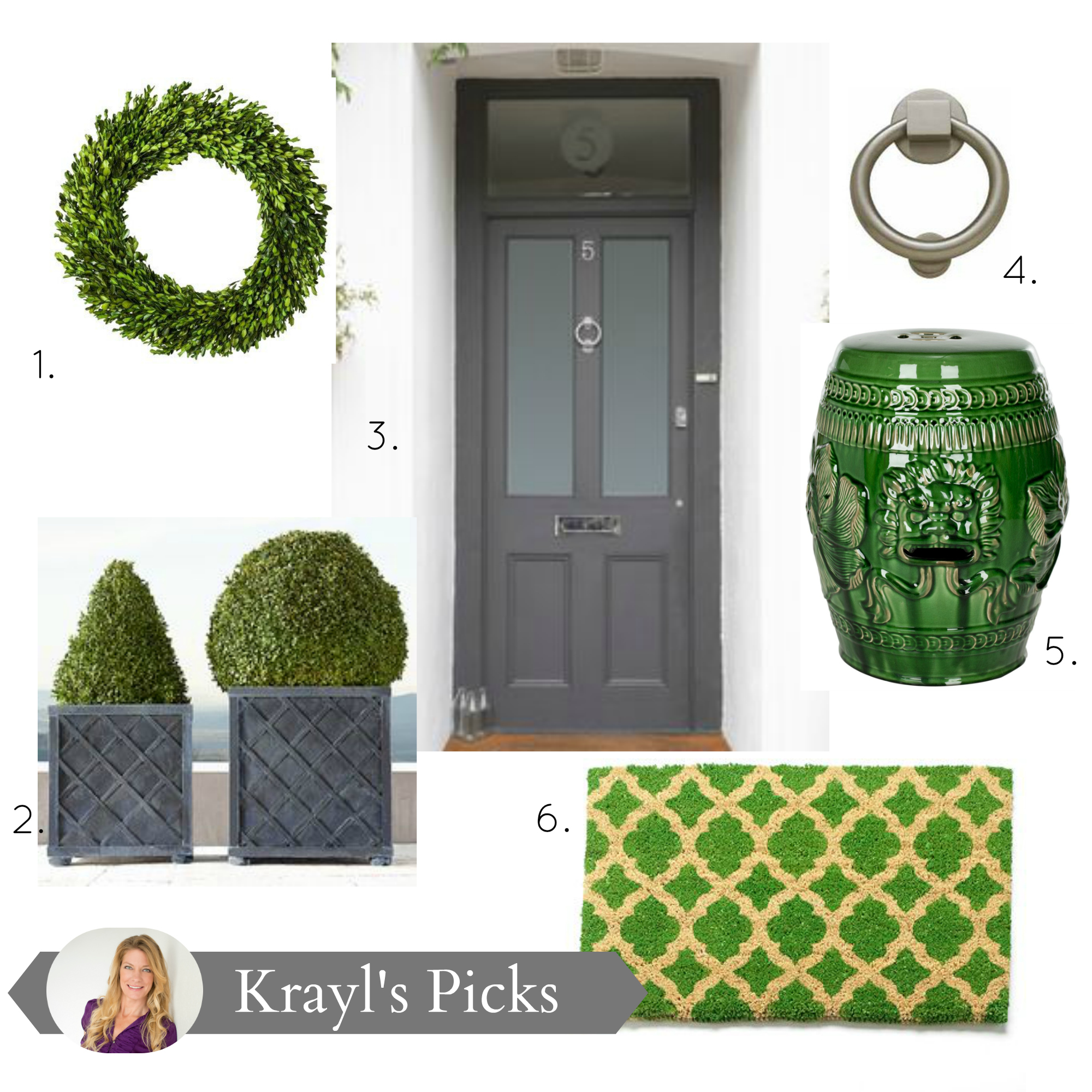 Designing a green and gray entranceway for your home by Krayl Funch