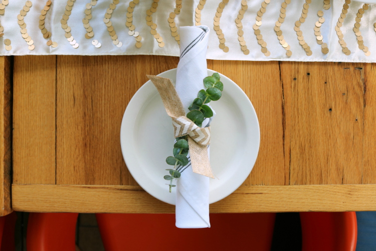 how to set a table for a bridal celebration in a restaurant - by krayl funch featuring gold chevron table runner, spring inspired floral arrangement
