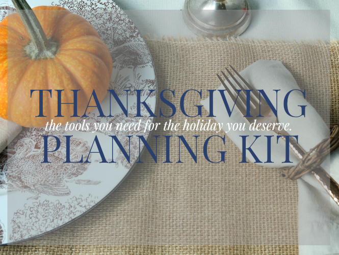 THANKSGIVING PLANNING KIT