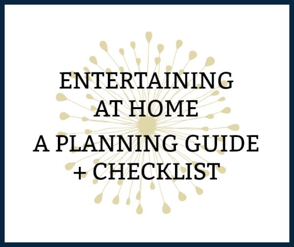 printable entertaining at home checklist