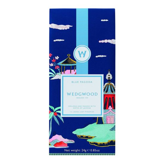 Wedgwood Wonderlust Tea Collection Blue Pagoda Tea Bags