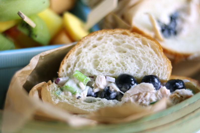 blueberry chicken salad recipe for a summer gathering